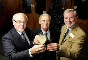 L-R: Sandringham Flower Show Chairman, David Reeve, Alf Ball and Tony Foster. (Photo Ian Burt for theEastern Daily Press)