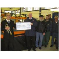 After our 10th Anniversary Concert - Alf Ball presenting a cheque for £1031.52 to Hunstanton RNLI - November 30th, 2008