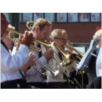 The Hunstanton Carnival - Our Director of Music, Chris Gutteridge mixing it with the brass! - 27th June, 2010 - Photo Jan Foster