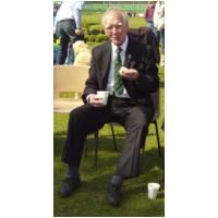 Ron Penniston enjoying a well earned break - Glebe House School Fête - 16th May, 2010 - Photo Jan Foster