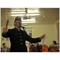 Ron Penniston singing 'A Policeman's Lot' at the United Services club, Hunstanton<br>3rd December 2008