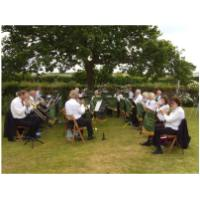 Ringstead Open Gardens with Alf Ball conducting from 1st Trumpet - 5th July 2009