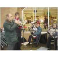 Outside Sainsbury's Hunstanton playing Christmas music - 23rd December 2008