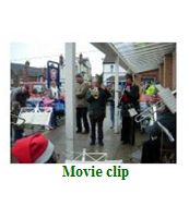Movie clip - Outside Sainsbury's Hunstanton playing 'Jingle Bells' - 23rd December 2008